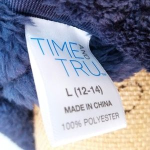 Time and Tru Jackets & Coats - Time And Tru Plush Quilted Zip-up Vest in Blue